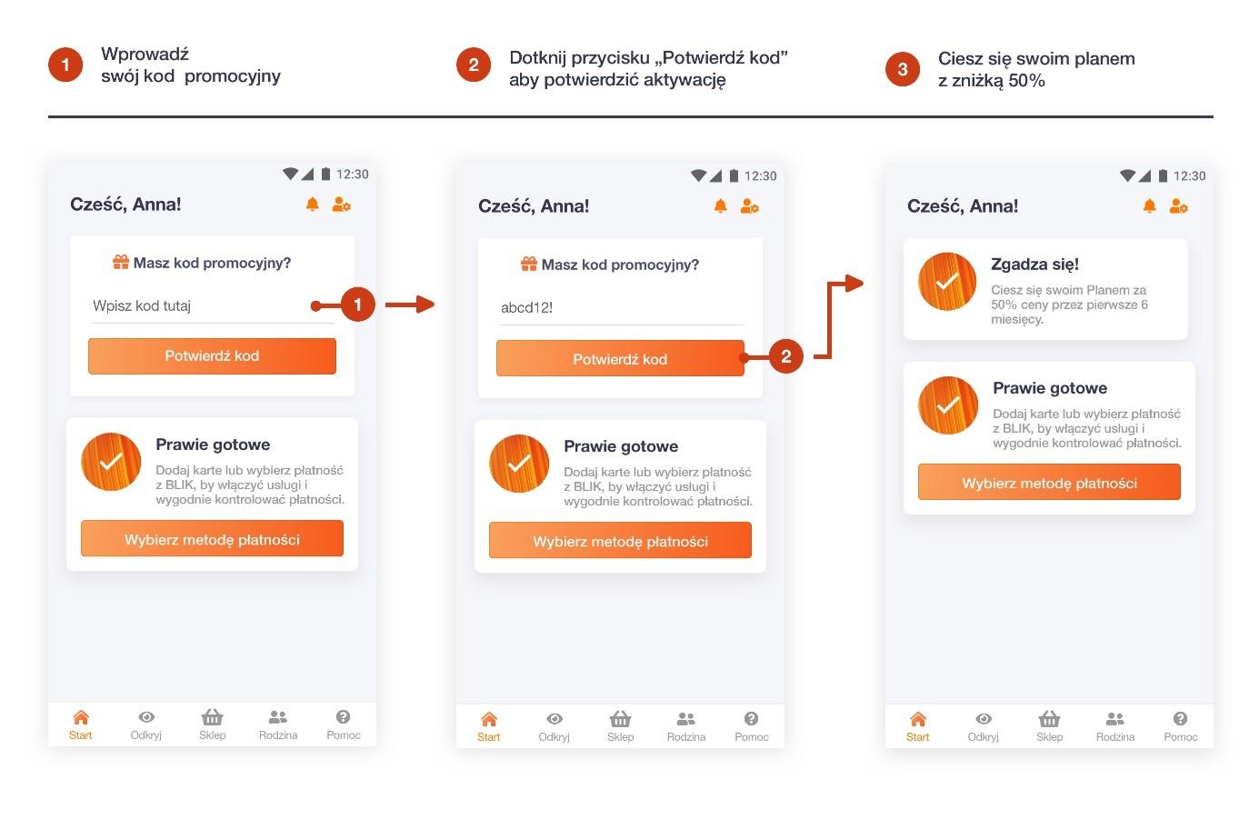 Instrukcja aktywacji kuponu orange flex